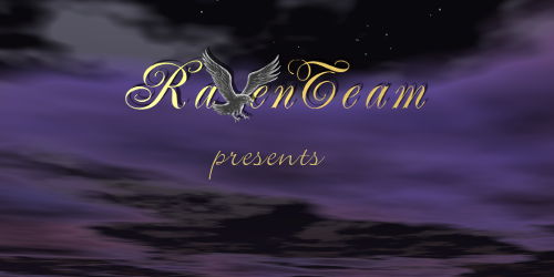 Cloud-Background with text: Raventeam presents