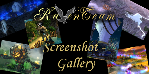 Collage and Text: Raventeam Logo - Screenshot Gallery
